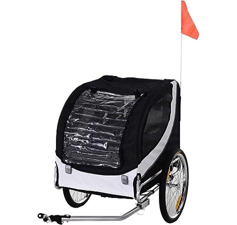 Remolque plegable con transportín para llevar en bicicleta perros ...