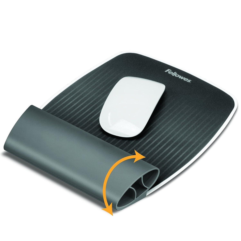 Fellowes 9311802 Tapettino per Mouse con Poggiapolsi Oscillante Wrist Rocker I-SPIRE Series Grigio