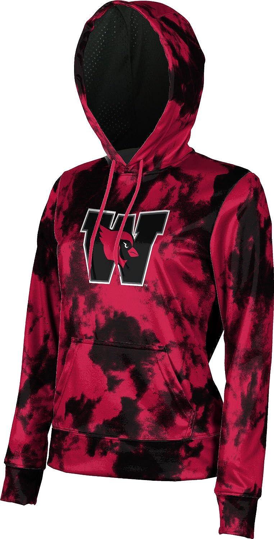 Grunge School Spirit Sweatshirt ProSphere Wesleyan University College Girls Pullover Hoodie