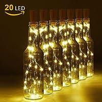 LED Bouteille Guirlande, LED Lumières Bouteille Bottle Lights Lumineuses Eclairage de Noël Bouchon de la Bouteille,Blanc Chaud pour la Famille