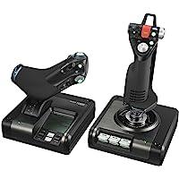 Logitech G Saitek X52 Pro Flight Control System, Controller and Joystick Simulator, LCD Display, Illuminated Buttons…