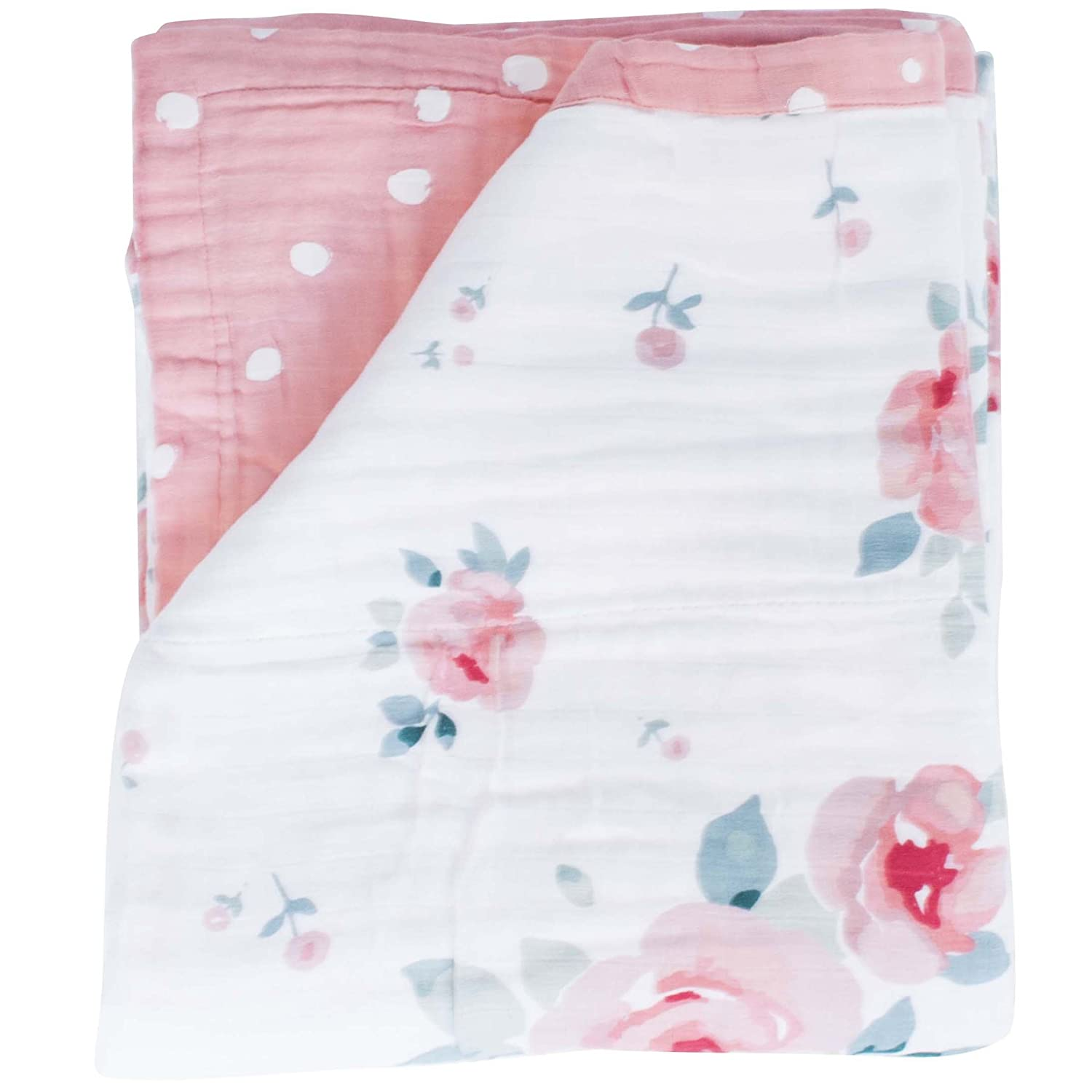 Great for swaddling made from 100/% cotton 3-Layer 23x23 made of soft muslin nursing cover Medium Snuggle Blankie travel blanket!