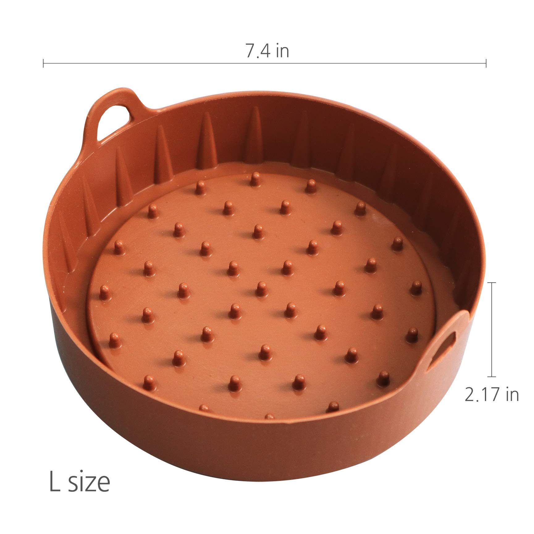 HAIM Living SILICONE TRAY for Air Fryer, Large - Premium Quality & Safe - Medical Grade Silicone - Non-Stick, User-Friendly - Dishwasher Safe & Heat Resistant - Healthy & Hygienic - Widely Compatible by HAIM Living