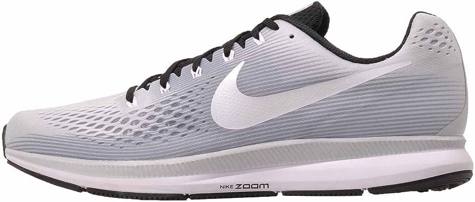 gráfico Entretenimiento Esquivar  Amazon.com | Nike Air Zoom Pegasus 34 TB 887009 002 Pure  Platinum/White/Black Men's Running Shoes (14) | Road Running