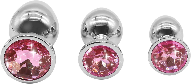 ERDS-KKD Rose Mat/ériau m/étallique imperm/éable et Facile /à Nettoyer derri/ère Le Jouet de Jeu avec Diamant