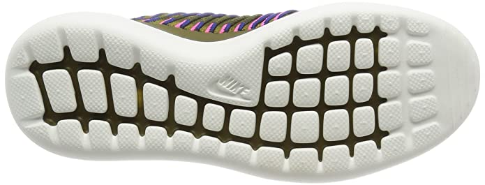 7ec25d5833ed Nike Women s Roshe Two Flyknit Running Shoes Pink Olive 844929 300 Size 7   Buy Online at Low Prices in India - Amazon.in