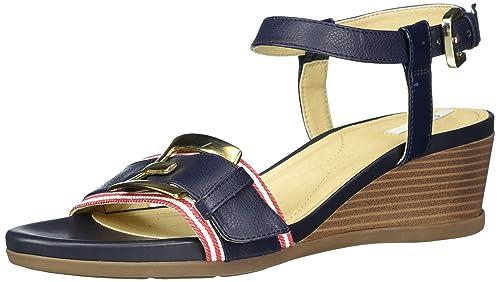 Geox D Marykarmen D, Sandali con Cinturino alla Caviglia Donna