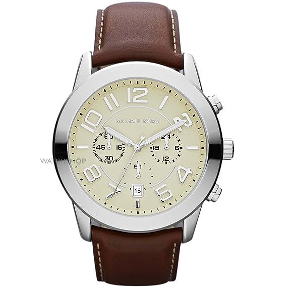Michael Kors Reloj Multiesfera para Hombre de Cuarzo con Correa en Cuero MK8292: Michael Kors: Amazon.es: Relojes
