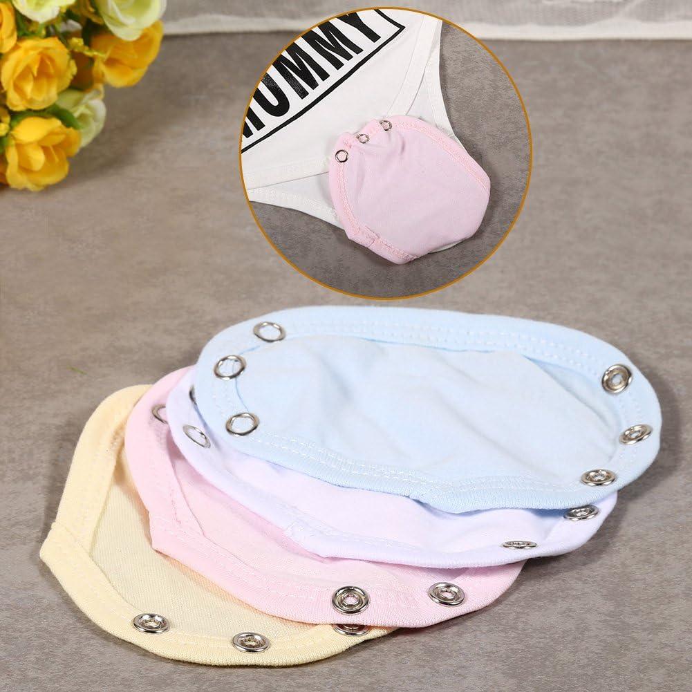 Fdit 5pcs Unisex Baby Mameluco Nappy Lengthen Widen mamelucos Universal extender for Babies blue