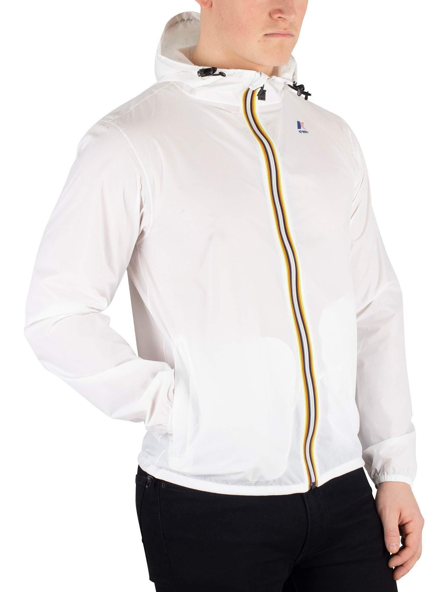 K-Way Men's Water Resistant Le VRAI Claude 3.0 Jacket White XXL