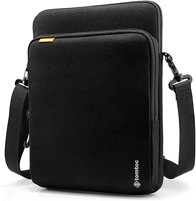 tomtoc Tablet Shoulder Bag for 12.9-inch New iPad Pro 2018-2020 with Apple Pencil Magic Keyboard and Smart Keyboard Folio, Surface Pro X/7/6/5/4, Waterproof Cordura Fabric Tablet Sleeve
