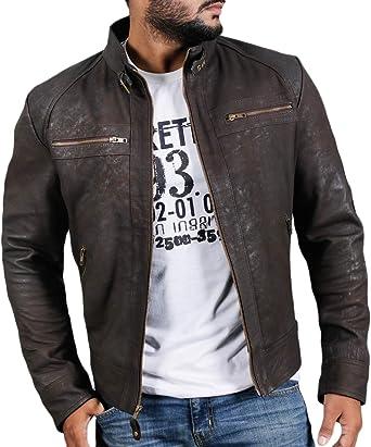 Laverapelle Mens Genuine Lambskin Leather Jacket Black, Racer Jacket 1501476