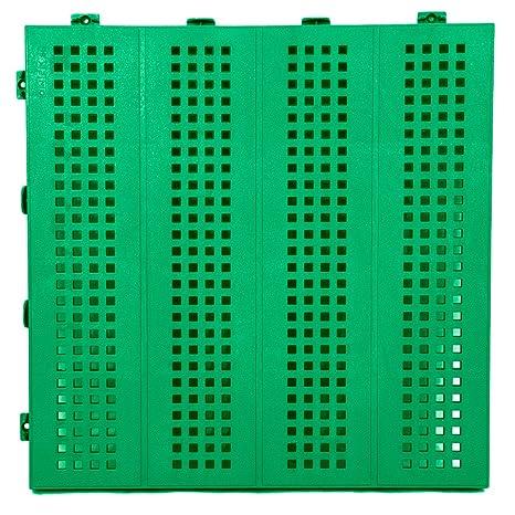 Piastre Da Giardino In Plastica.Piastrella Mattonella In Plastica Da Esterno E Giardino 40x40 Verde