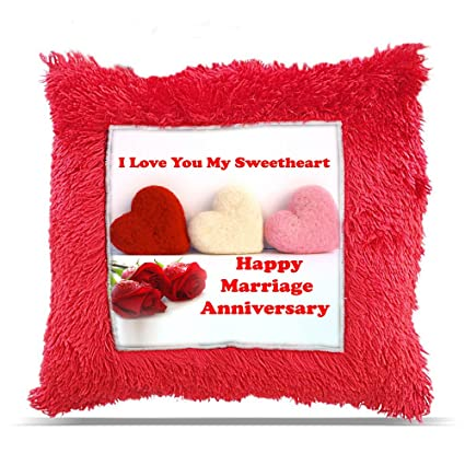 Buy Tia Creation Happy Marriage Anniversary Sweetheart Gift Pillow