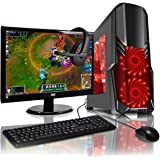 ADMI GAMING PC PACKAGE: Powerful Desktop Computer, 21.5 Inch 1080p Monitor, Keyboard & Mouse Set (PC SPEC: AMD A6-6400K 4.1GHz Dual Core Processor with Radeon HD 8470D Graphics, USB 3.0, 500W PSU, 1TB Hard Drive, 8GB RAM, 24 x DVDRW Drive, Wifi, CIT G Force Black/Red Gaming Case, Pre-Installed with Windows 10 Operating System)