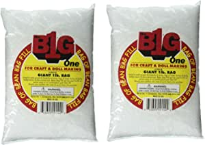 Darice Bean Bag Filler Plastic Pellets, 16oz (16 OZ, 2)