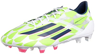f87c1f23a1f F50 adizero TRX FG Football Boots Core White Rich Blue Solar Green - size