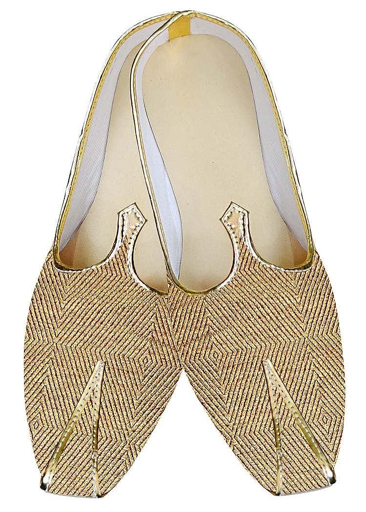 INMONARCH Indian Mens/Shoes Golden Wedding Shoes Wales Design Juti MJ014836