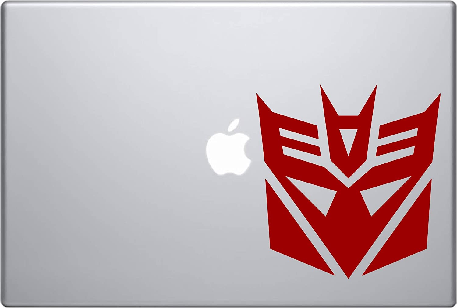 "Decepticon Transformer (Red 4"") Vinyl Decal Sticker for Car Automobile Window Wall Laptop Notebook Etc.... Any Smooth Surface Such As Windows Bumpers"