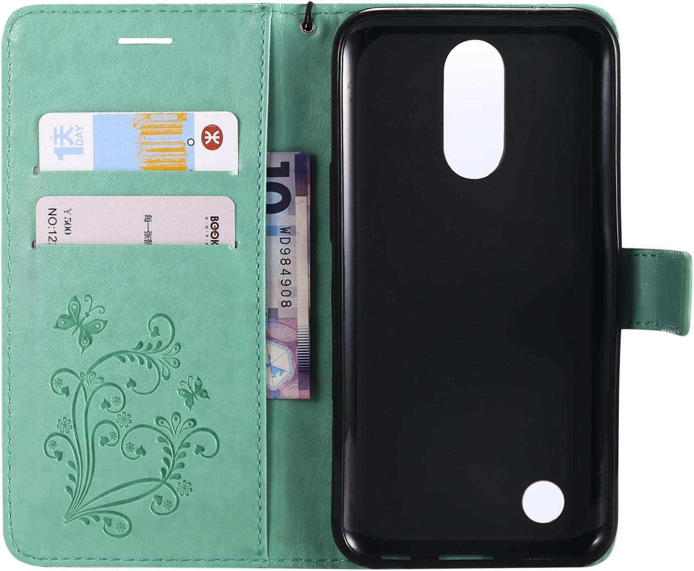 Leather Wallet Case with Kickstand Card Holder Shockproof Flip Case Cover for LG K10 2017 M250N Case Lomogo LG K10 2017 LOKTU22635 Blue