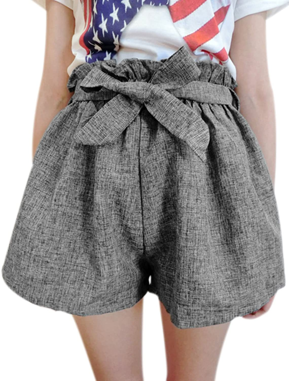 Lady Ruffle Waist High Waist Self Tie Strap Shorts