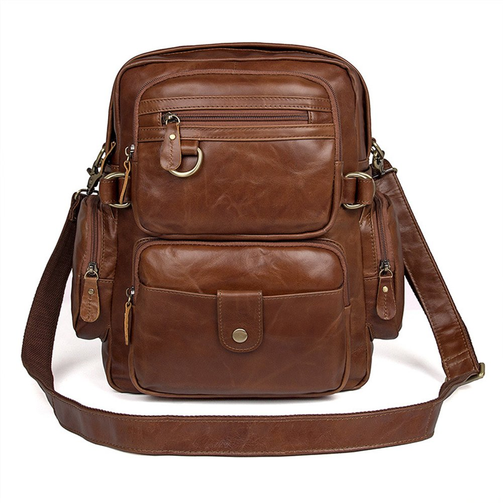 MuLier Sling Backpack Men Genuine Leather Bag Crossbody Shoulder Bag For Men by MuLier (Image #9)