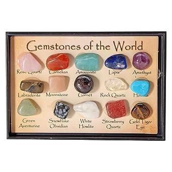 ExcLent Colección De Rocas Mezcla Gemas Cristales Naturales Enseñanza Mineral Mineral Ejemplares Caja De Decoración: Amazon.es: Industria, empresas y ciencia