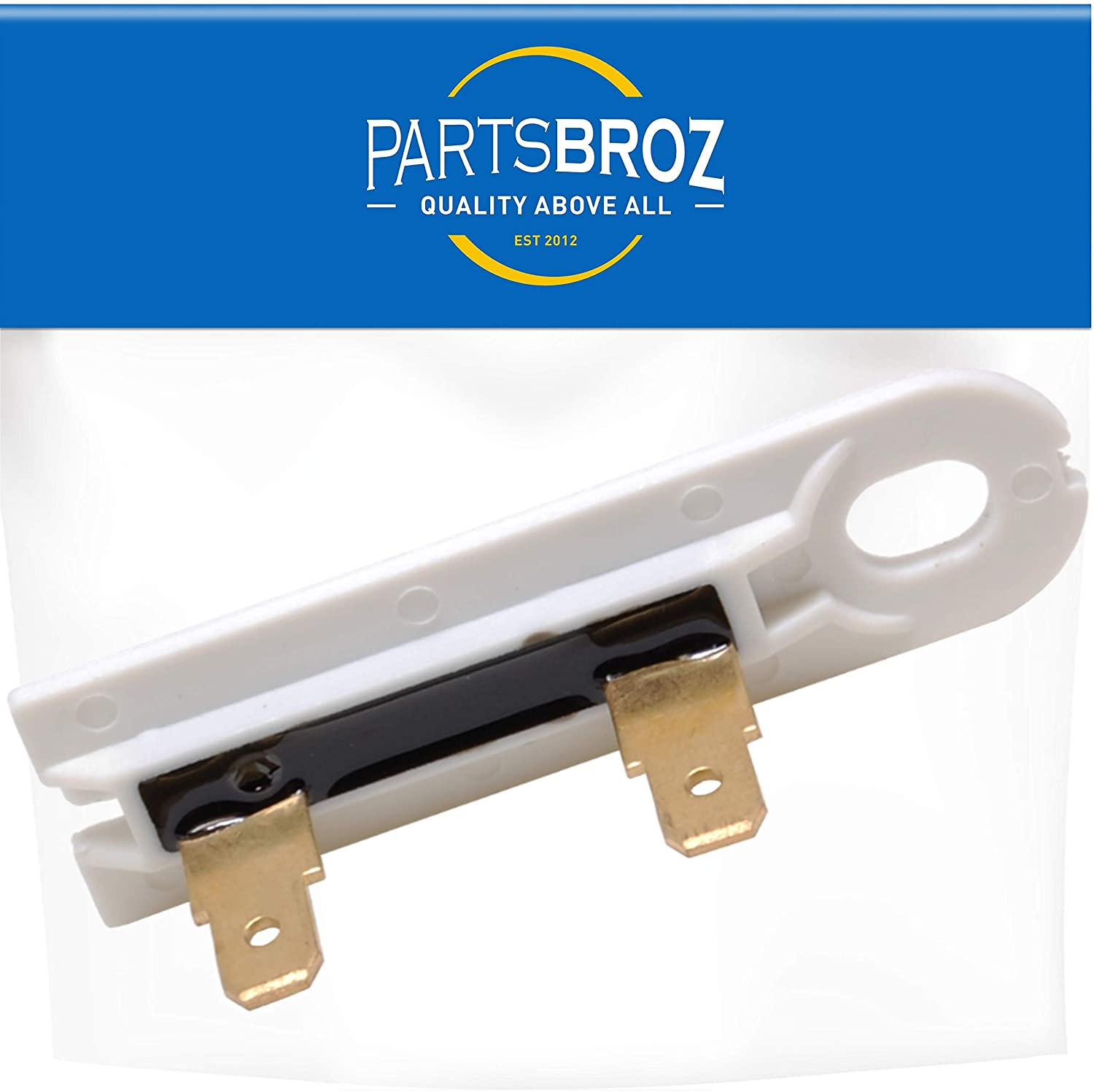 PartsBroz 3392519 Dryer Thermal Fuse Replacement part for Whirlpool & Kenmore Dryers - Replaces Part Numbers WP3392519, AP6008325, 3388651, 694511, 80005, ET401, PS11741460, WP3392519VP (Single)