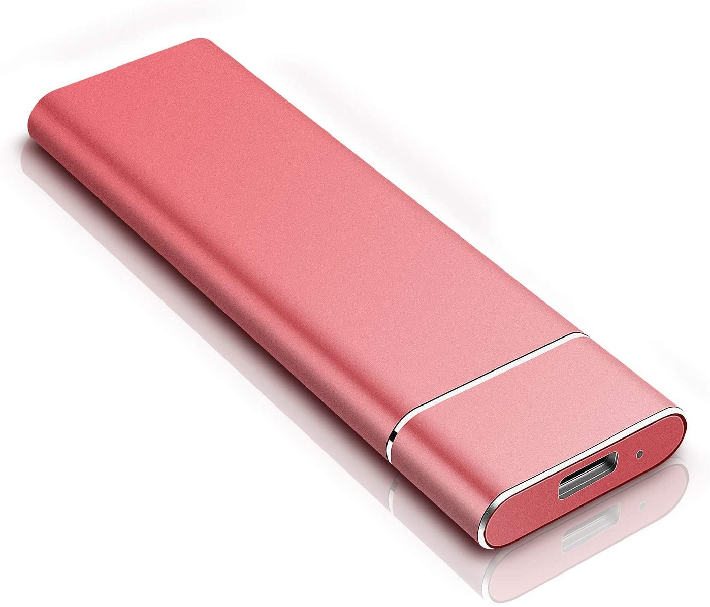 External Hard Drive 1TB 2TB - Portable Hard Drive External HDD for PC Laptop and Mac-Gold (2TB, Red)