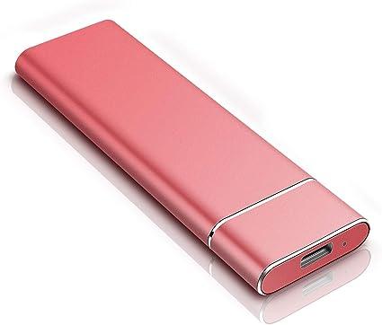 Disco duro externo portátil de 2 TB, disco duro externo ultrafino para PC, Mac, portátil, PS4 y Smart TV rosso 2 tb: Amazon.es: Electrónica