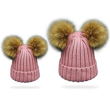 18a5f41ea08 2PCS Parent-child Hat Warmer