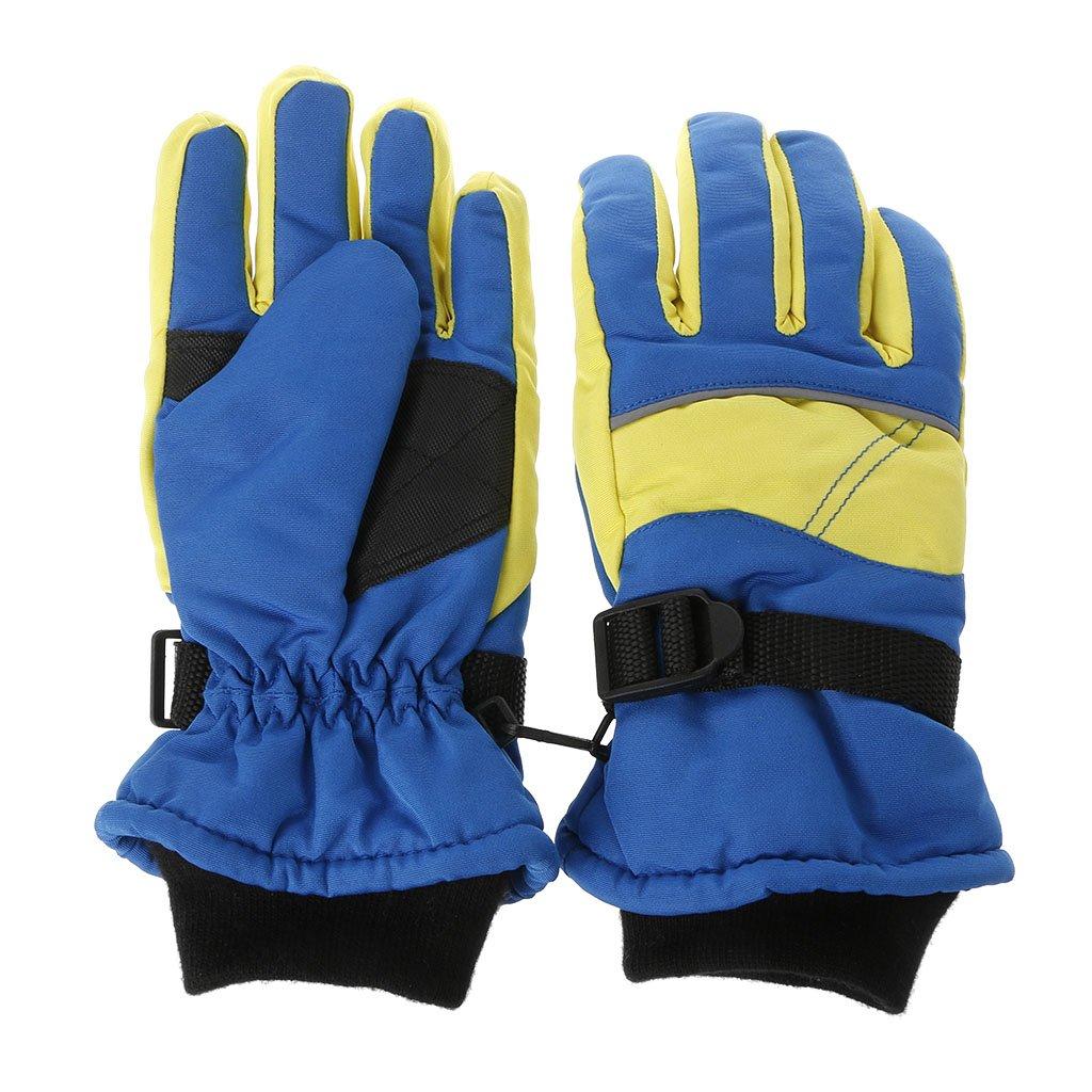 Maskdoo Warm Children Winter Mitten Ski Sports Gloves Windproof Waterproof Outdoor Extended Wrist Handwear Snowboard Riding Accessory Kids Boys Girls Children Toddlers Infant