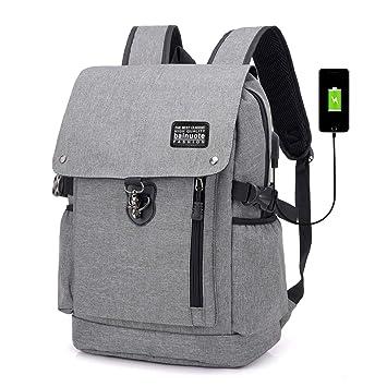0cdec79caca21 bainuote Wasserdicht Laptop Rucksack Jugendliche Schulrucksack Rucksäcke  Backpack USB Ladeport 13-15