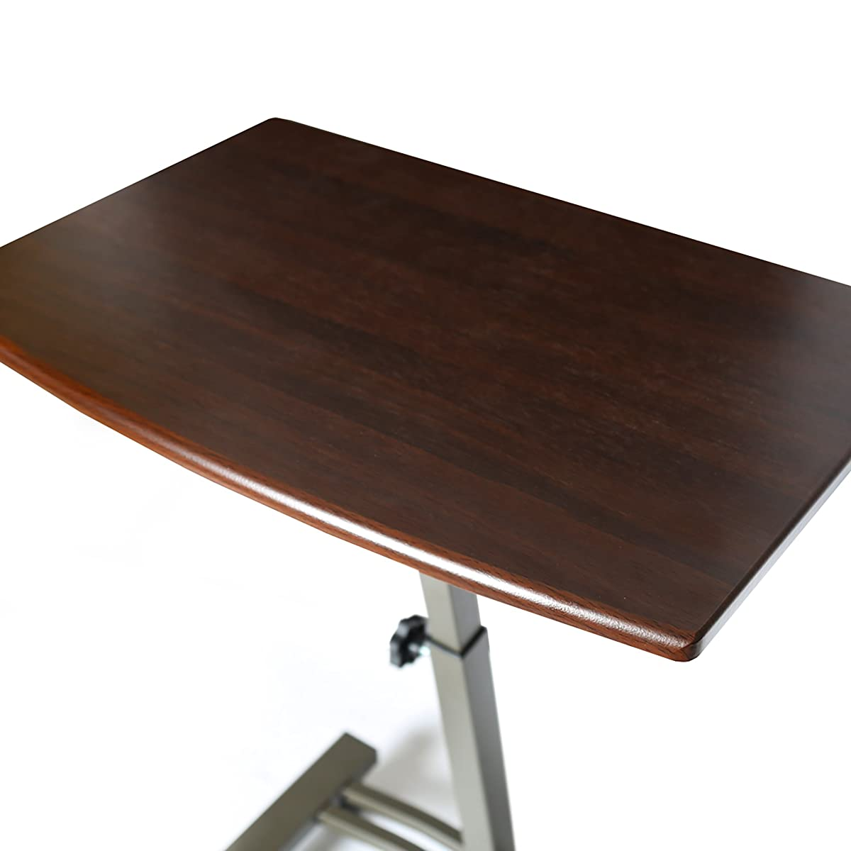 """Seville Classics Mobile Laptop Computer Desk Cart, Height-Adjustable from 20.5"""" to 33"""", Walnut"""