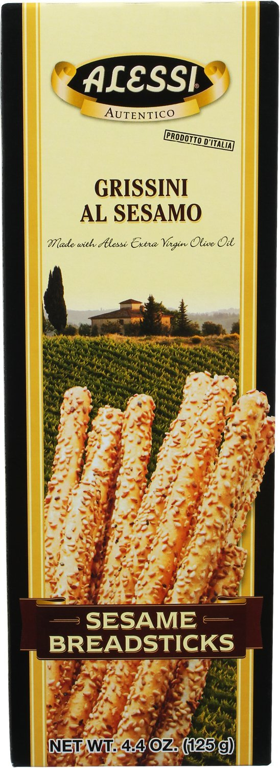 Alessi Breadsticks, 4.4- Boxes Sesame 52.8 Ounce (Pack of 12)