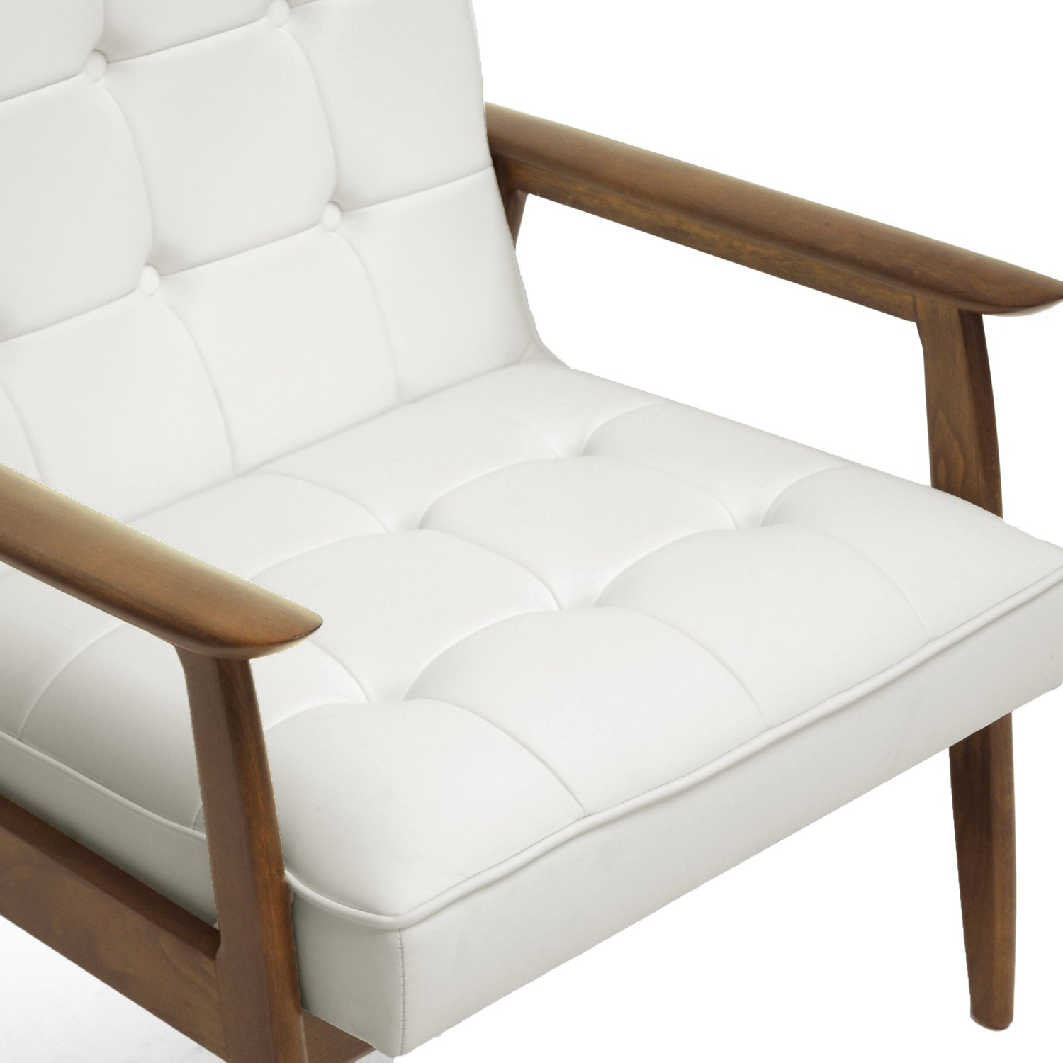 This mid century tufted club chairs is no longer available - Amazon Com Baxton Studio Stratham Mid Century Modern Club Chair White Kitchen Dining