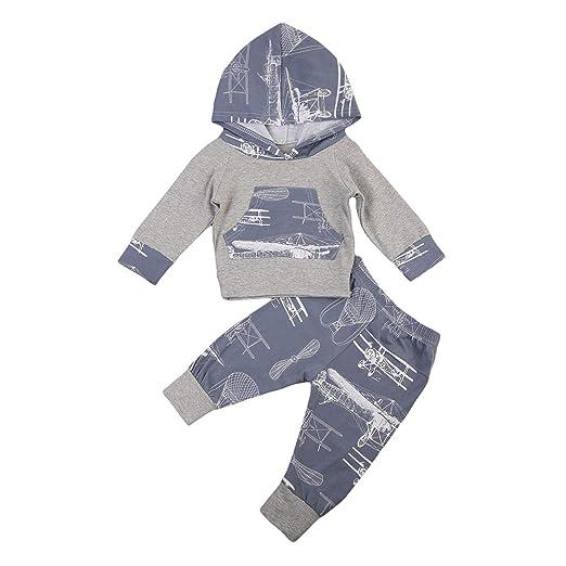 de979380d Amazon.com  Autumn Winter Toddler Baby Boy Girl Suit Tops Long ...