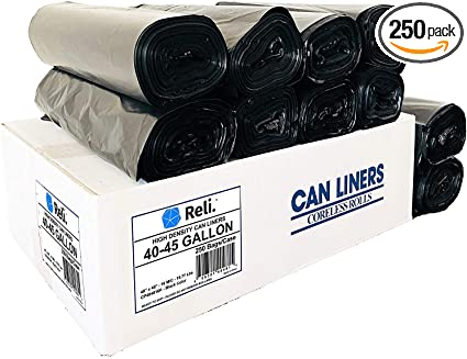 Amazon.com: Reli. Bolsas de basura, 40 – 45 galones (250 al ...