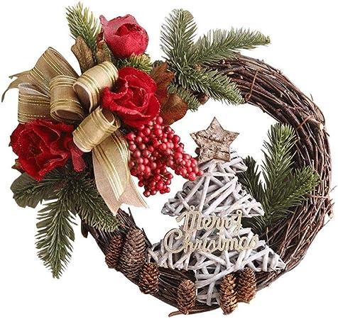 Noël ruban violet couronne porte mur de noël festive décoration hanging berry