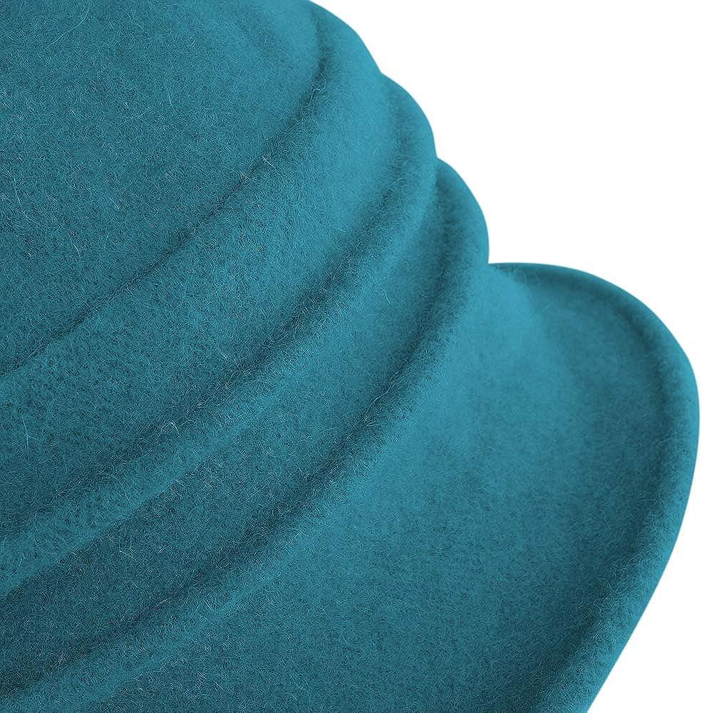 Original One Women Vintage Wool Cloche Bucket Church Hat Winter Fall Flower Cap
