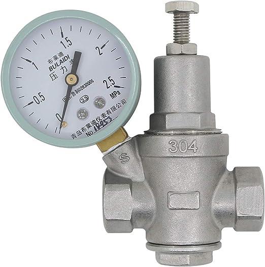 1-1//4 zoll DN32 Druckregler wasser 1//2 3//4 1 1-1//4 zoll wasserdruckminderer mit manometer druckminderventil wasser