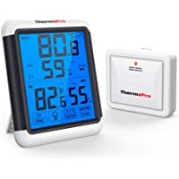 ThermoPro TP65A Indoor Outdoor Thermometer Digital Wireless Hygrometer Temperature and Humidity Monitor with Jumbo…