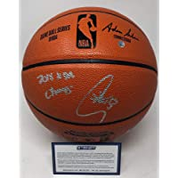 $399 » Stephen Curry Golden State Warriors Signed Autograph NBA Game Basketball 18 NBA CHAMPS INSCRIBED Steiner Sports Certified
