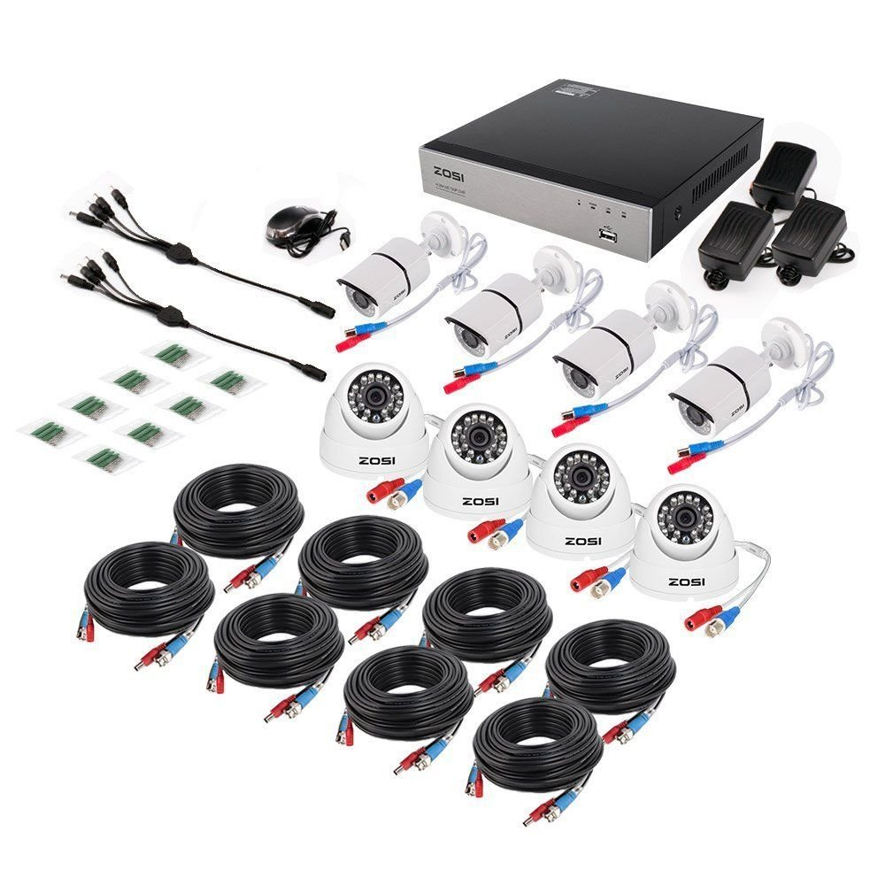ZOSI Full HD 1080p Security Camera System, 8x 1080p HD Weatherproof Outdoor Surveillance Camera, 8CH 1080P CCTV DVR Recorder and 2TB Hard Drive, 100ft Night Vision, Customizable Motion Detection by ZOSI (Image #3)
