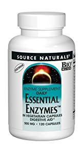 Source Naturals Essential Enzymes 500mg Bio-Aligned Multiple Enzyme Supplement Herbal Defense For Daily Digestive Health - Supports A Strong Immune System - 120 Veg Capsules