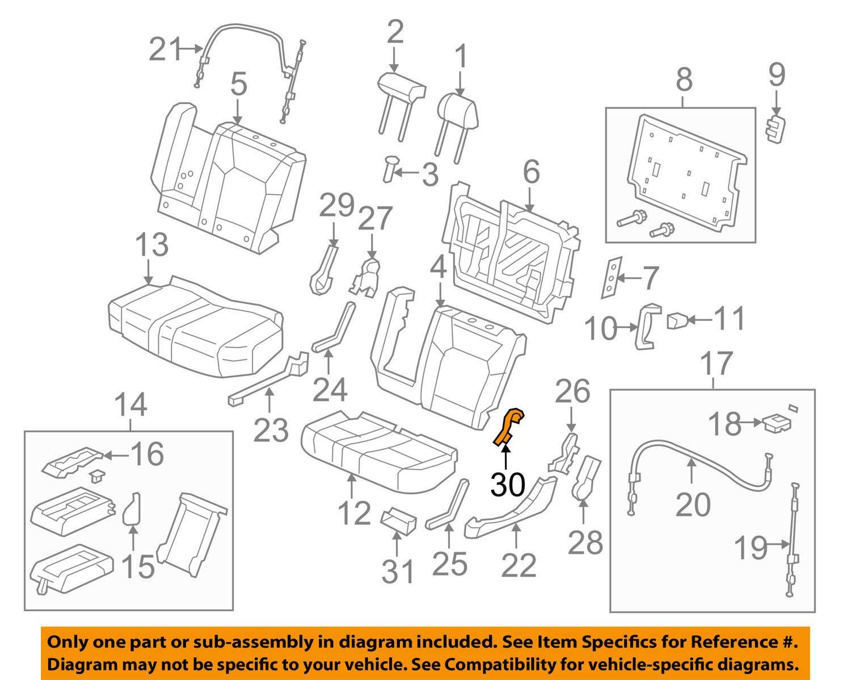 Seat Bracket Cover 81733-SZA-A01ZC Honda Genuine