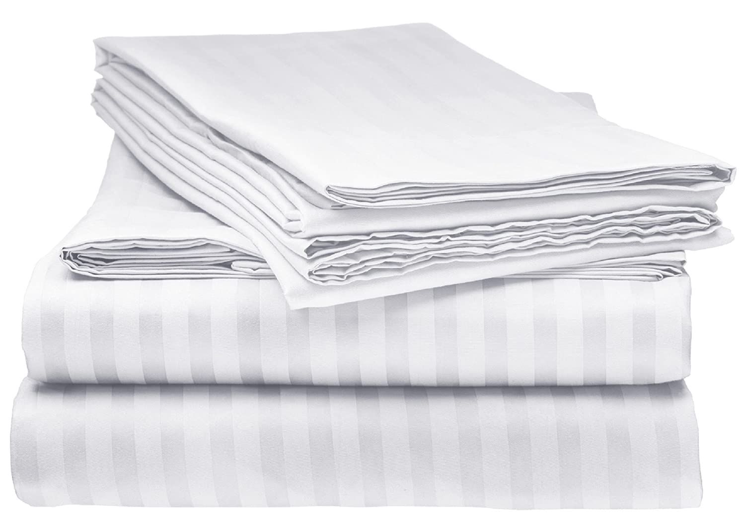 BELLA KLINE BEDDING 1800 Series 4 pc Bed sheet set with pillowcases HYPOALLERGENIC, 1 soft silky luxurious feel, fitted and flat sheets LIFETIME - TWIN Size, WHITE