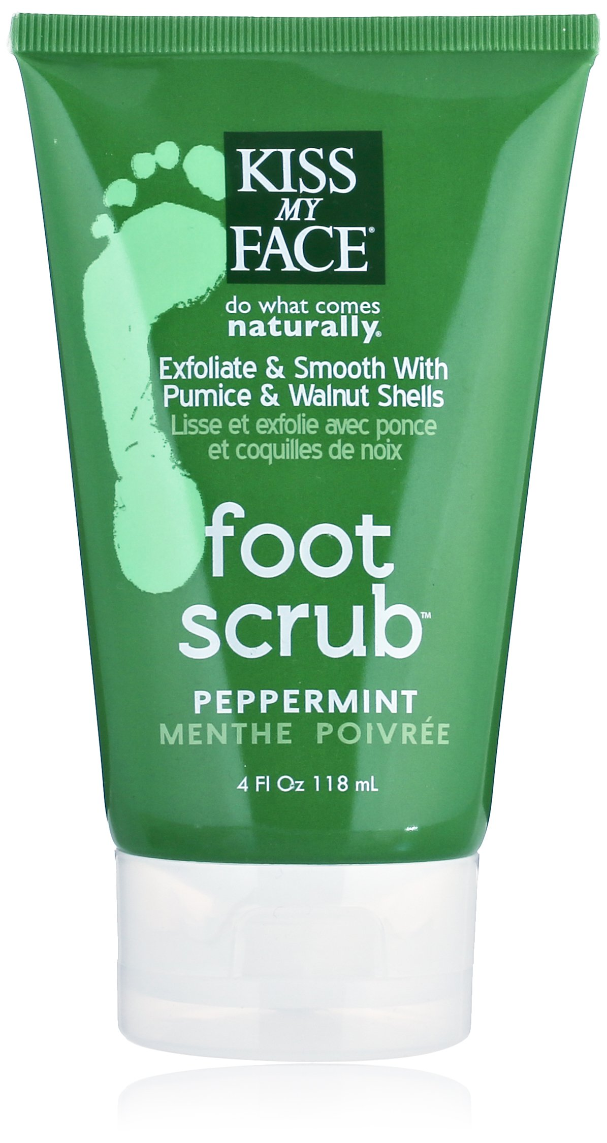 Kiss My Face Foot Scrub, 4-Ounce Tubes (Pack of 2) by Kiss My Face