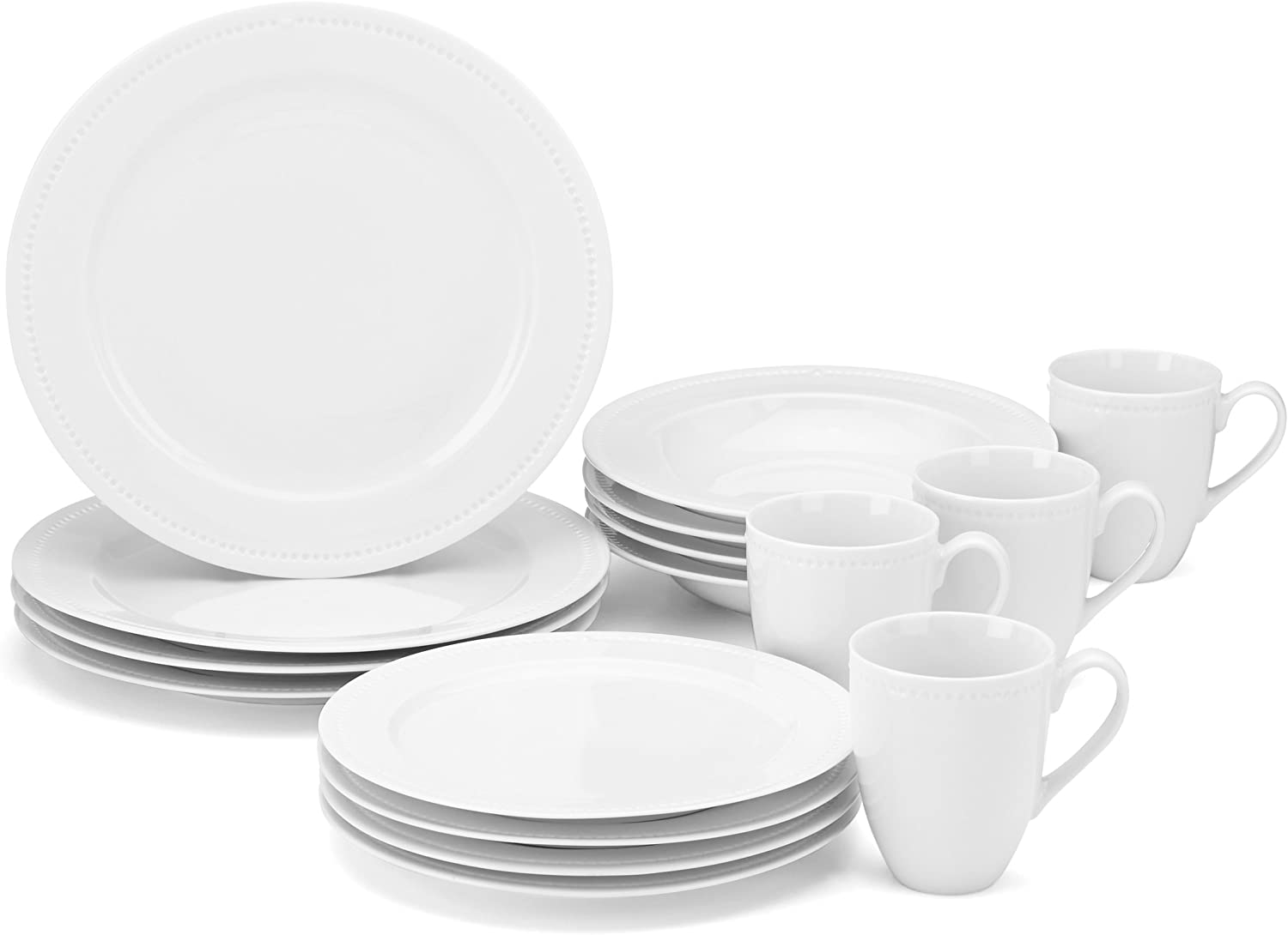 Food & Wine For Gorham On the Dot 16-Piece Dinnerware Set