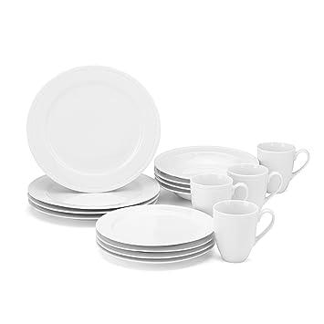 Amazon.com | Food & Wine For Gorham On the Dot 16-Piece Dinnerware ...
